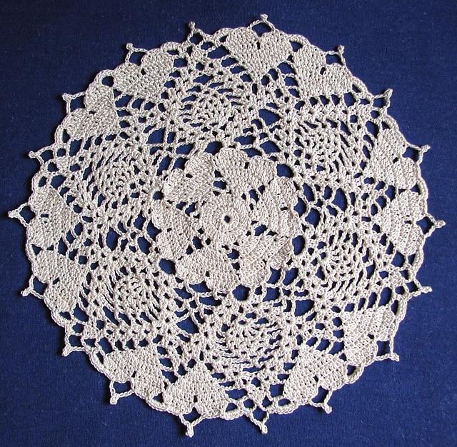Hearts Doily Free Crochet Pattern Crochetkim