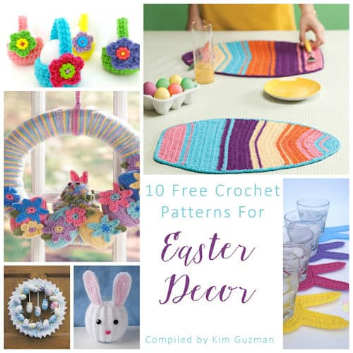 Link Blast: 10 Free Crochet Patterns for Easter Home Decor