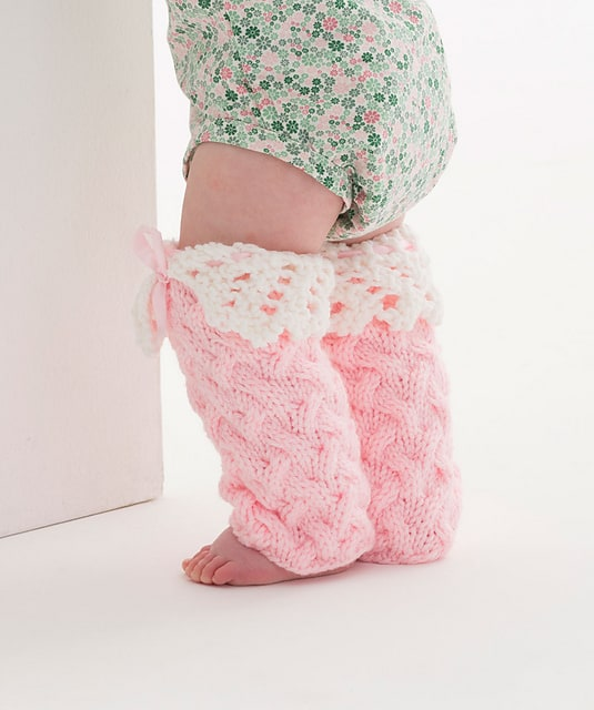 Free Knit Pattern: Lacy Baby Legwarmers