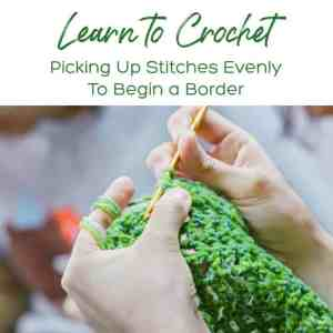 Learn to Crochet: Picking Up Stitches Evenly to Begin a Border