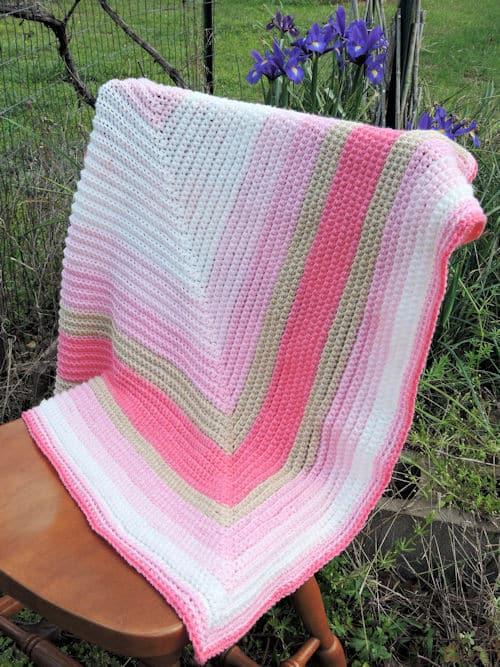 Straight To The Heart Baby Blanket Free Crochet Pattern Crochetkim