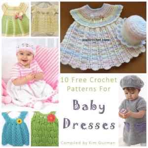 Link Blast: 10 Free Crochet Patterns for Baby Dresses