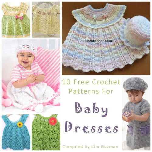 Link Blast: 10 Free Crochet Patterns for Baby Dresses
