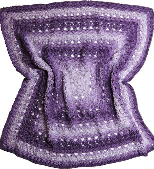 Lunar Crossings Square Blanket by Kim Guzman of CrochetKim