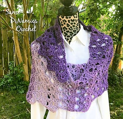 Free Crochet Pattern: Arches of Citadel Shawl