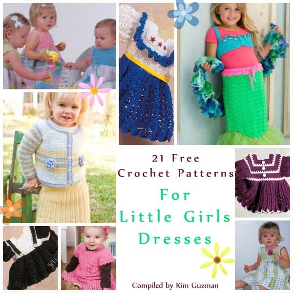 Link Blast: 21 Free Crochet Patterns for Little Girls Dresses