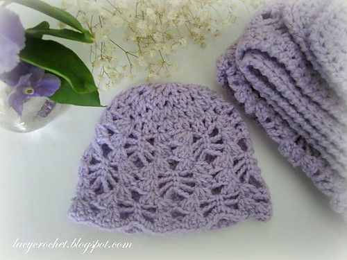 Free Crochet Pattern: Lacy Stitch Newborn Hat