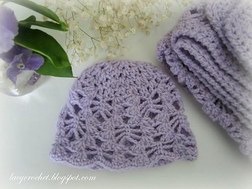 Lacy Stitch Newborn Hat Free Crochet Pattern Crochetkim