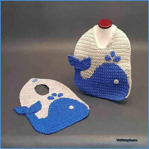 The Blue Whale Bib Free Crochet Pattern