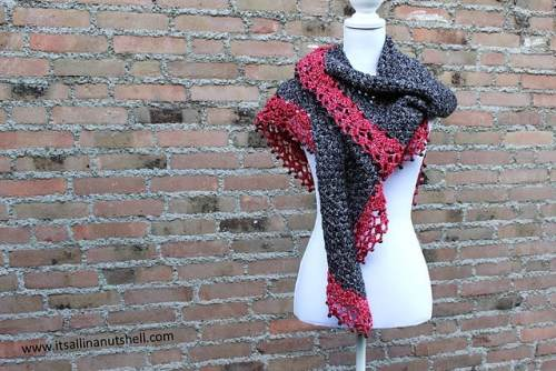 Free Crochet Pattern: Touch of Velvet Wrap