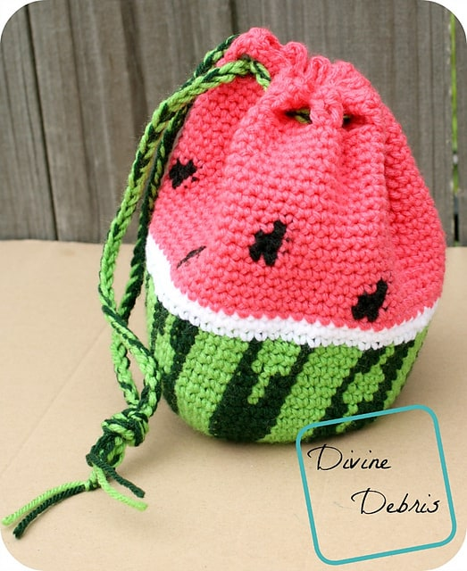 Free Crochet Pattern: Wonderful Watermelon Bag