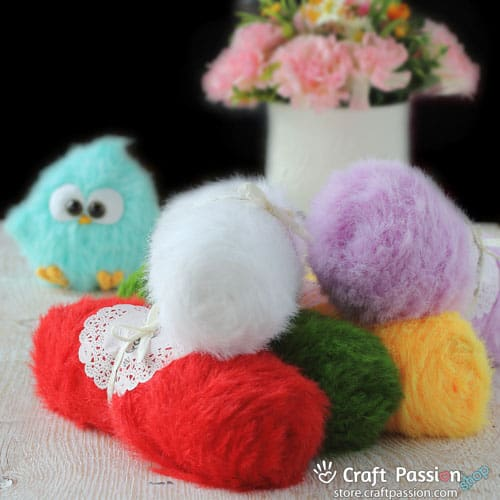 Fur Bird Amigurumi Yarn: Eyelash Fur Yarn