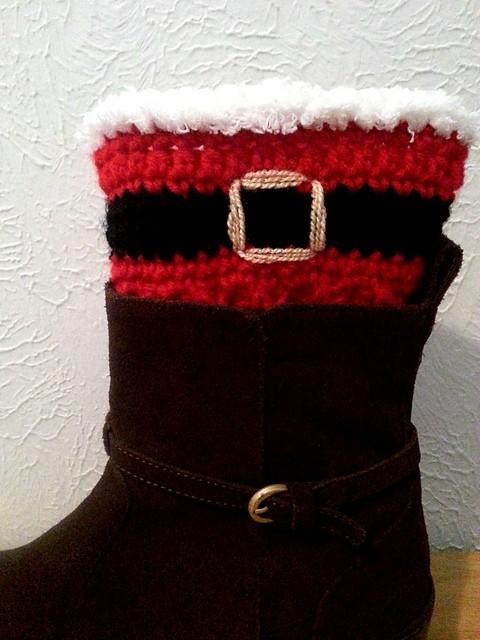 Santa Boot Cuffs Free Crochet Pattern Crochetkim