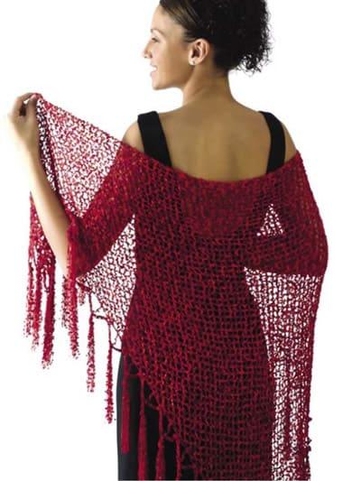 Free Crochet Pattern: Scarlet Ribbons Shawl