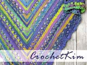 CrochetKim Free Crochet Pattern: Unforgettable Triangle Shawl