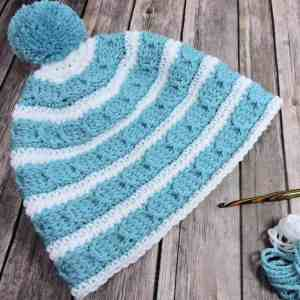 Cables Around Beanie CrochetKim Free Crochet Pattern