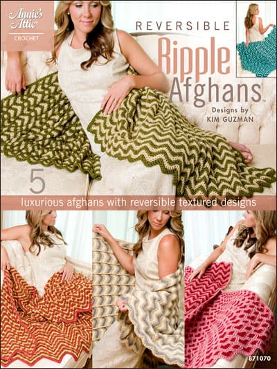 Make It Crochet Prize Entry: Hard Copy Book, Reversible Ripple Afghans by Kim Guzman