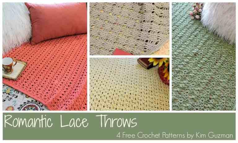 CrochetKim Free Crochet Pattern | Romantic Lace Throws @crochetkim