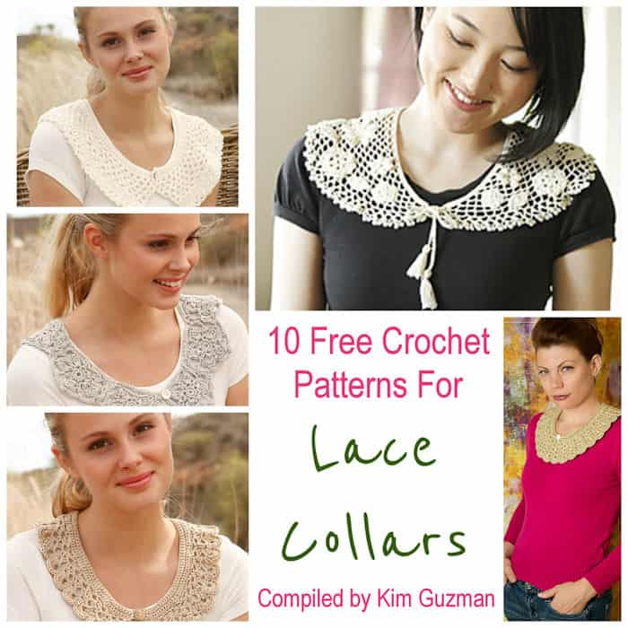 Link Blast 10 Free Crochet Patterns For Lace Collars Crochetkim