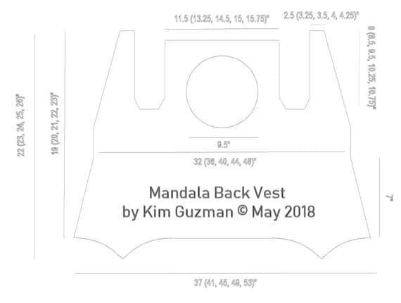 CrochetKim Free Crochet Pattern: Mandala Back Vest