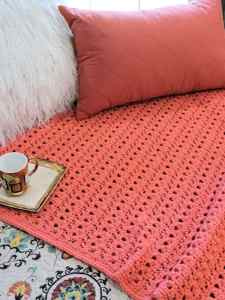 CrochetKim Free Crochet Pattern | Peony Passion Throw