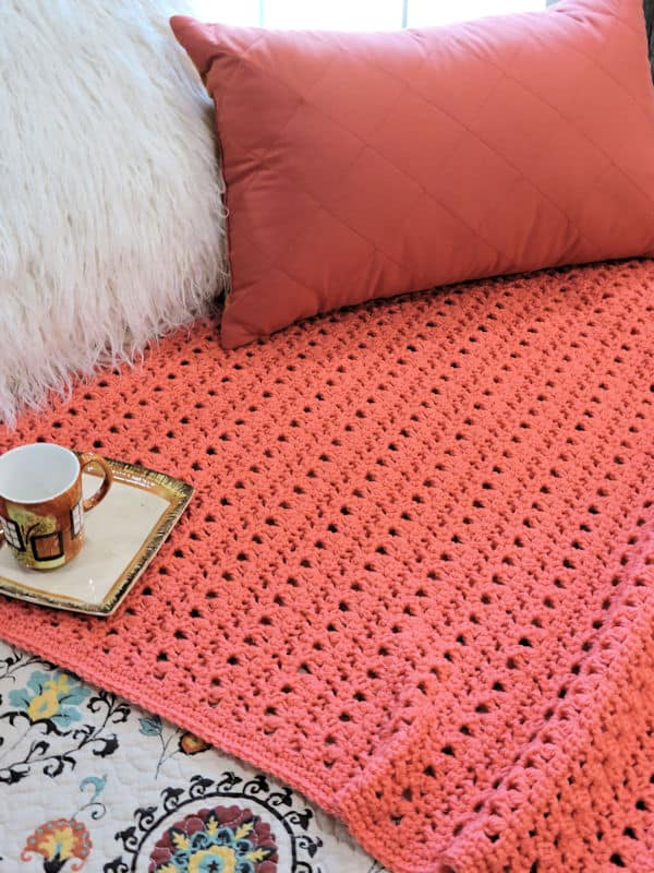 Peony Passion Throw Free Crochet Pattern