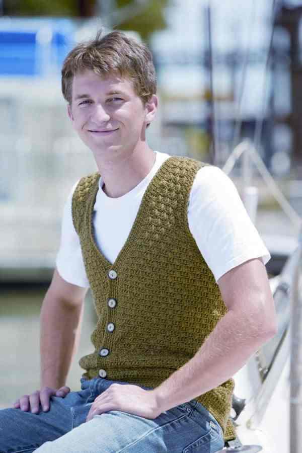 Swish Mens Vest Free Crochet Pattern Crochetkim
