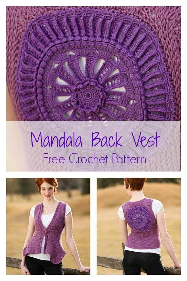 Mandala Back Vest | CrochetKim Free Crochet Pattern