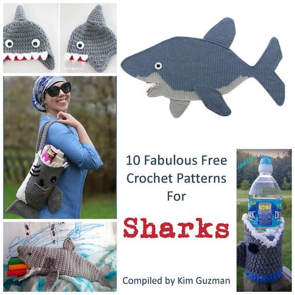 Get Ready for Shark Week with 10 Free Crochet Patterns | CrochetKim™