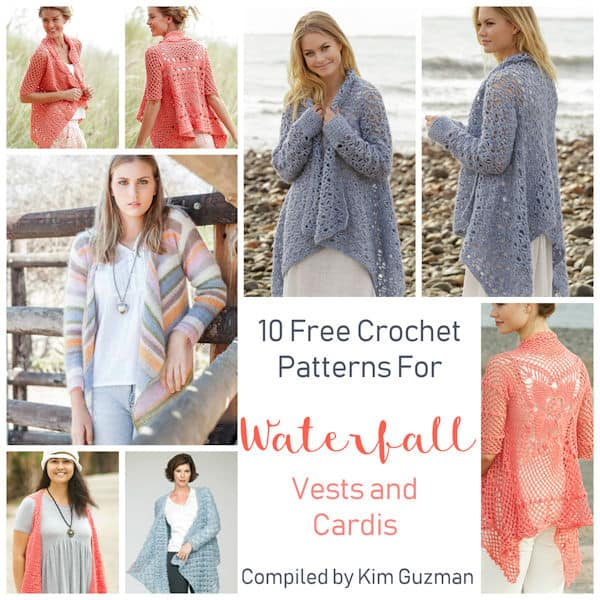 Link Blast 10 Free Crochet Patterns For Waterfall Vests And