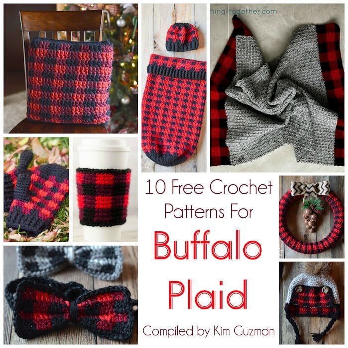 Link Blast: 10 Free Crochet Patterns for Buffalo Plaid Tartan Gingham