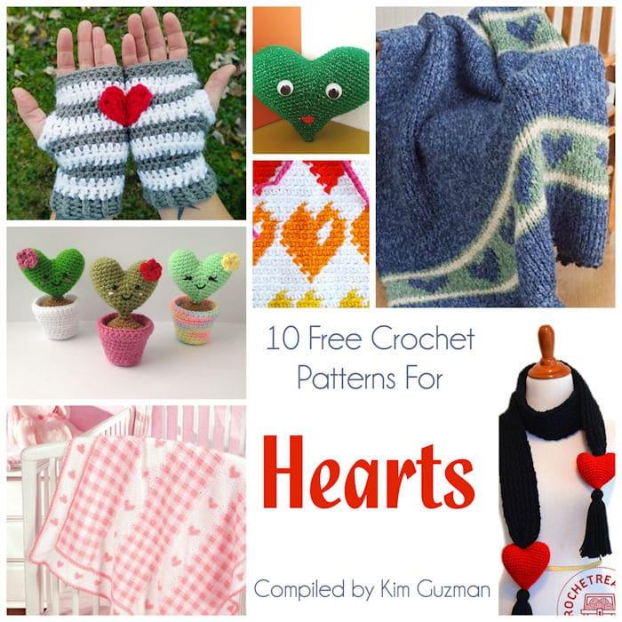 Link Blast 10 Free Crochet Patterns For Hearts Crochetkim