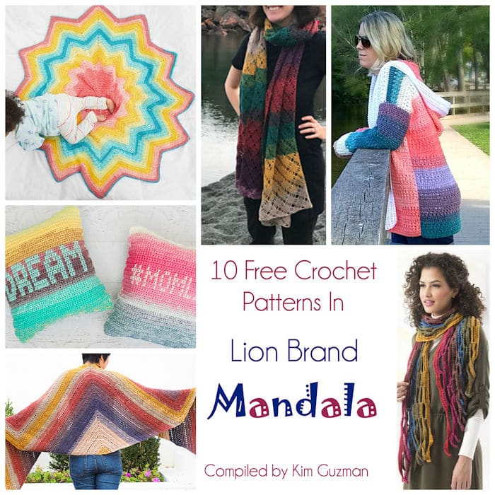 Link Blast 10 Fantastic Free Crochet Patterns In Lion Brand Mandala