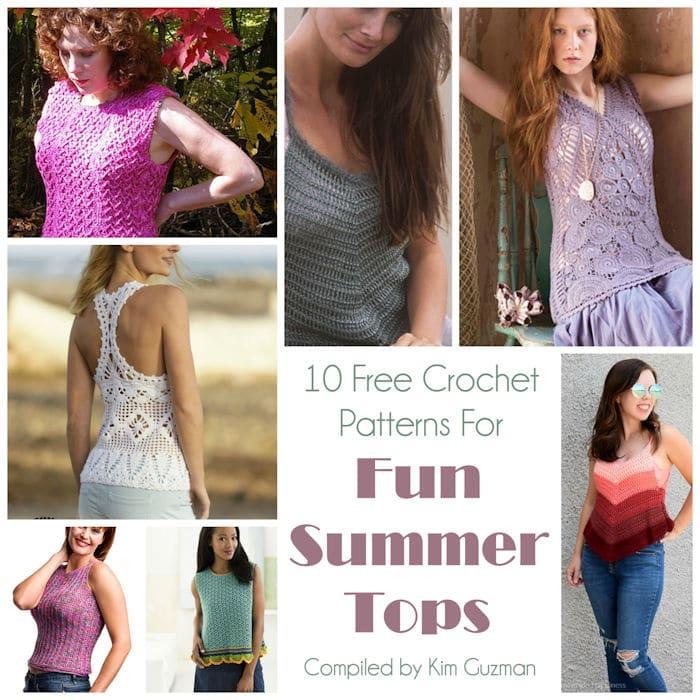 Link Blast: 10 Free Crochet Patterns for Summer Tops