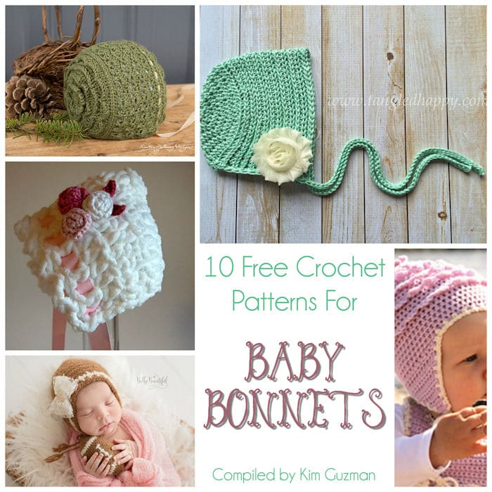Link Blast 10 Free Crochet Patterns For Baby Bonnets Crochetkim