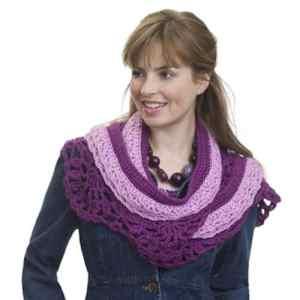 Crochet Layered Scarf | CrochetKim Free Crochet Pattern