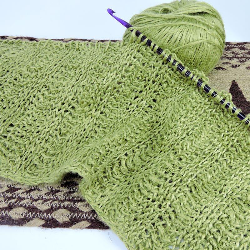 Tunisian Swatch CrochetKim