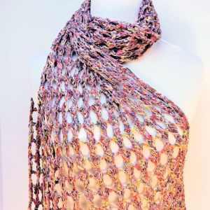 Tandem Lace Wrap Fling | CrochetKim Free Crochet Pattern