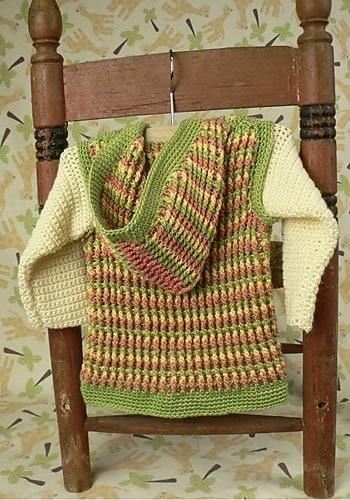Turning Stone Baby Hoodie | CrochetKim Free Crochet Pattern