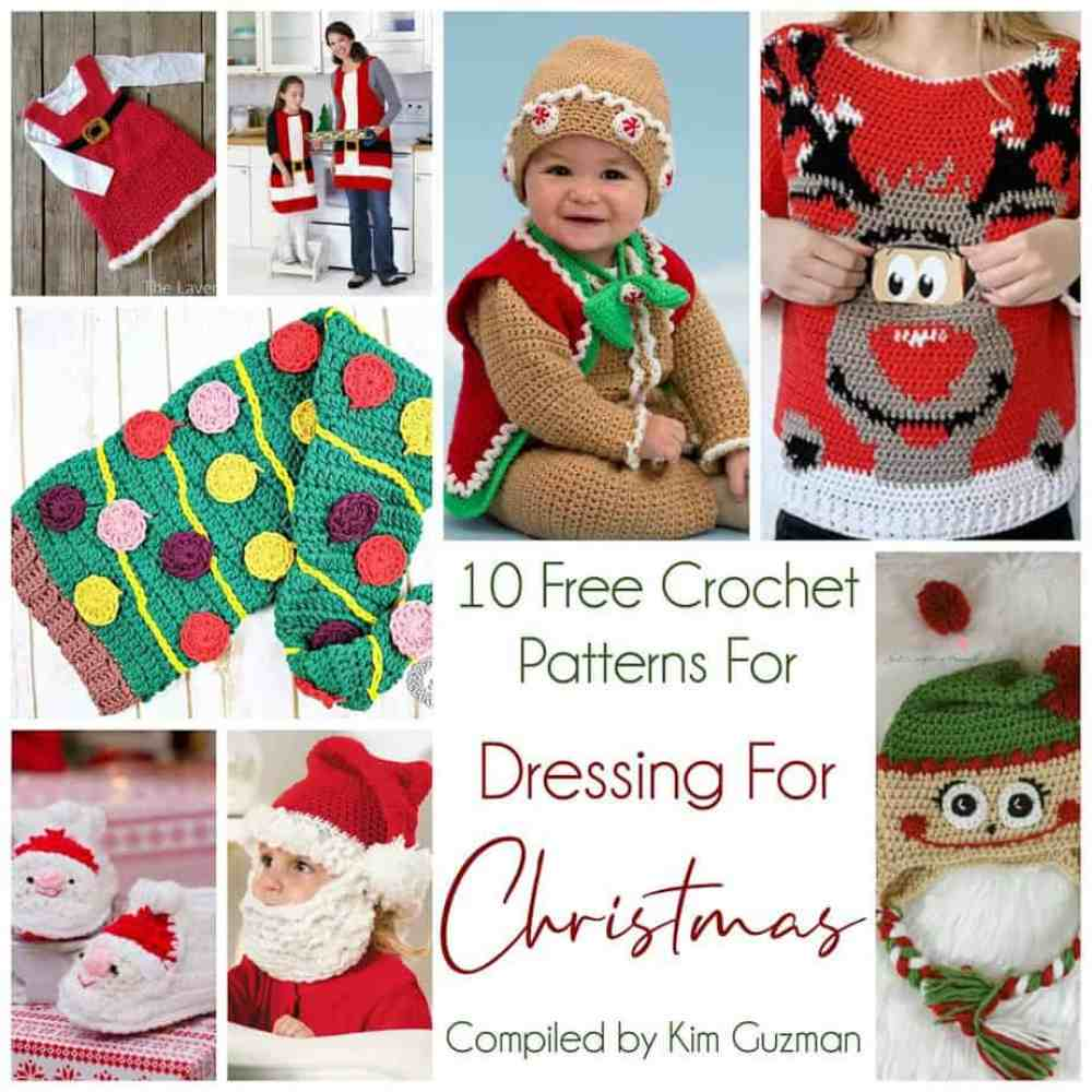 Link Blast 10 Free Crochet Patterns For Christmas Outfits Crochetkim