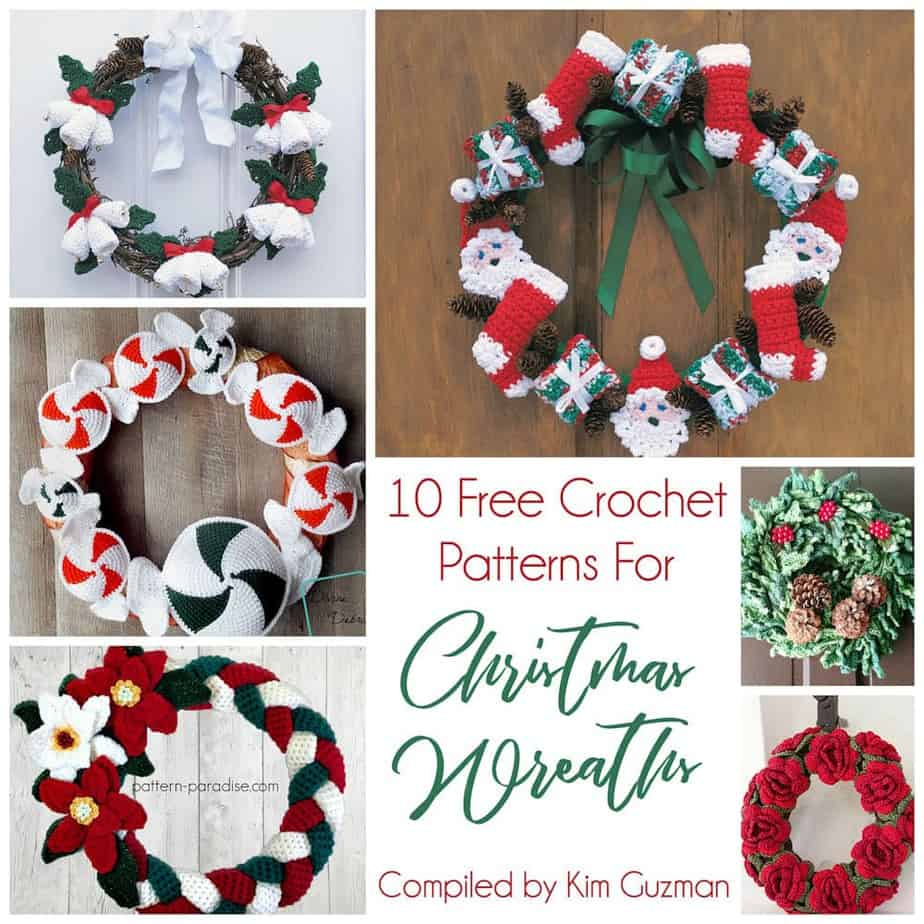 Link Blast: 10 Free Crochet Patterns for Christmas Wreaths