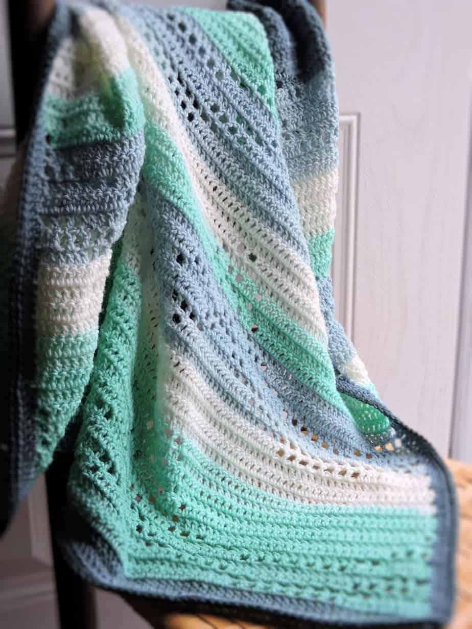 Sparkle Double Thick Scarf | CrochetKim Free Crochet Pattern