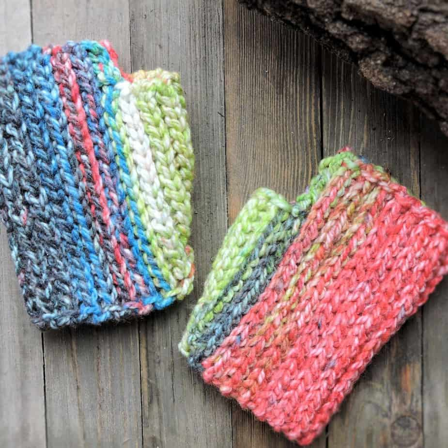 Last Minute Hopscotch Fingerless Mitts Free Crochet Pattern
