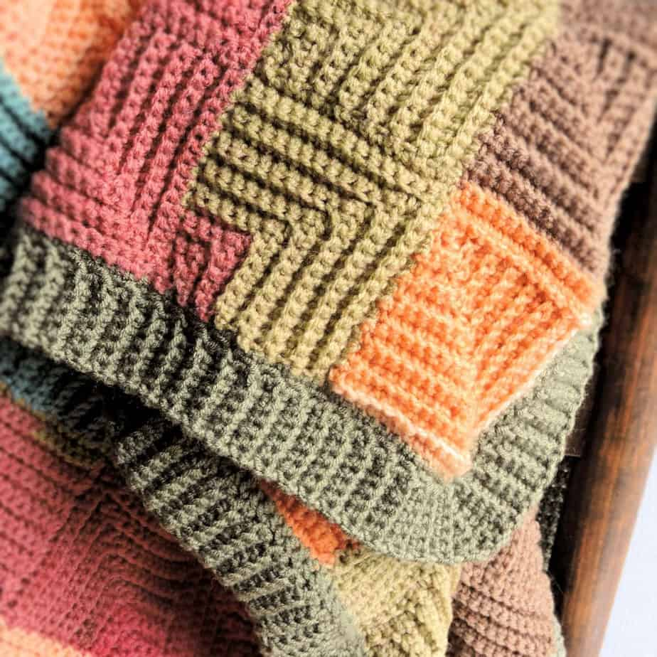 Patchwork Throw CrochetKim Free Crochet Pattern