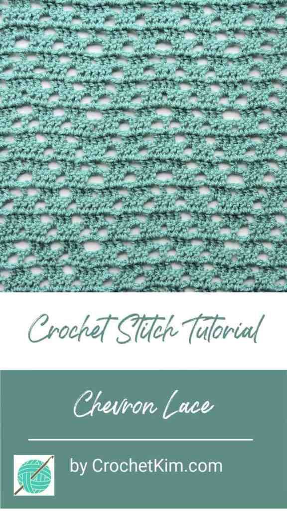 Chevron Lace CrochetKim Free Crochet Stitch Tutorial