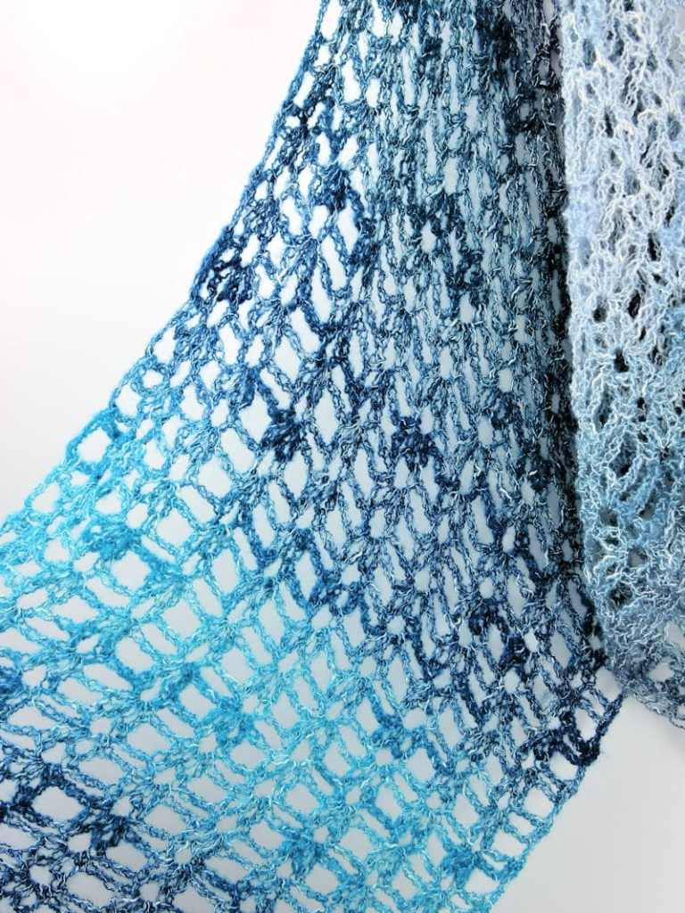 Denim Blues Fling Wrap Easy CrochetKim Free Crochet Pattern