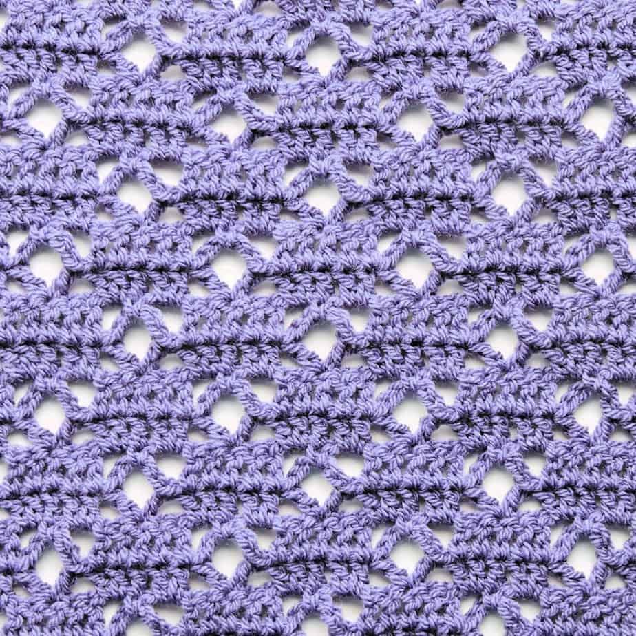 Lattice Loop CrochetKim Free Crochet Stitch Tutorial