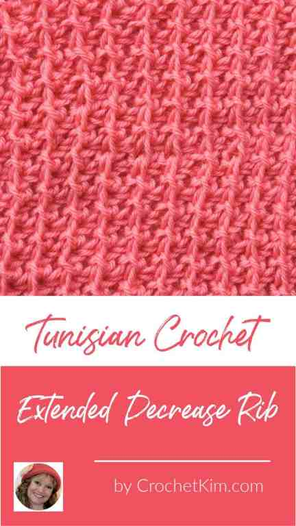 Tunisian Extended Decrease Rib CrochetKim Crochet Stitch Tutorial