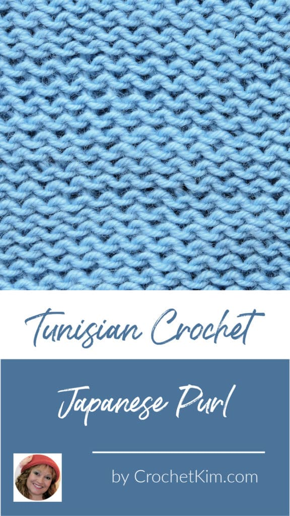 Tunisian Japanese Purl CrochetKim Crochet Stitch Tutorial