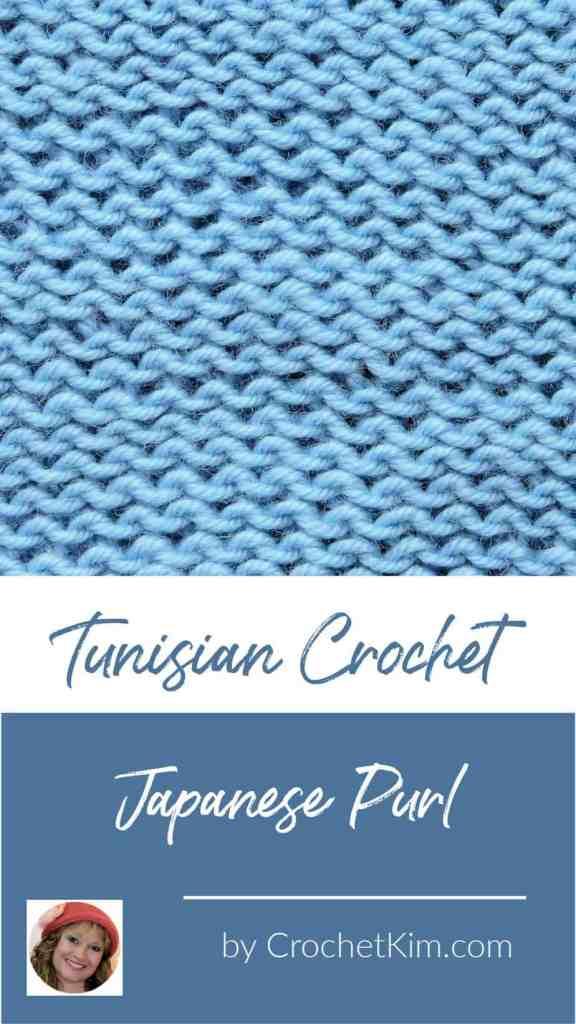 Tunisian Japanese Purl CrochetKim Crochet Stitch Tutorial